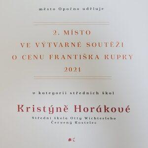2. místo pro Kristýnu Horákovou