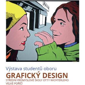 Pozvánka výstavu žáků oboru Grafický design